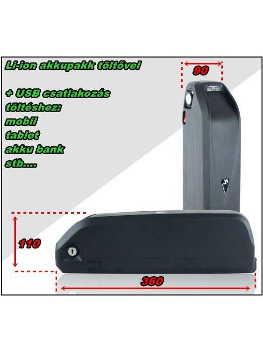 Li-ion akkupakk 52V 10Ah +USB -520Wh!!!
